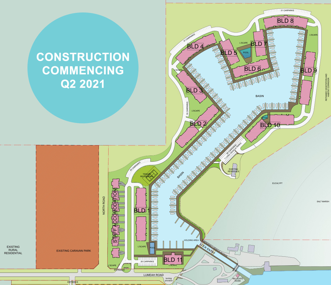 Construction commencing Q2 2021 in Somerville Cove
